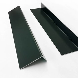 Versandmetall Aluminium hoek antraciet ongelijke poten 90 ° tot lengte 1250 mm