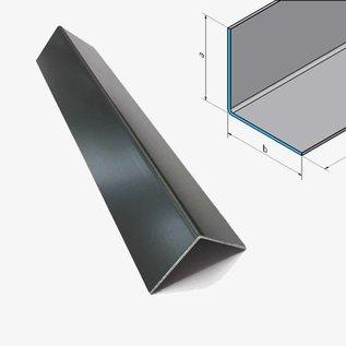 Versandmetall Aluminium hoek antraciet gelijkbenig 90 ° gevouwen tot een lengte van 1250 mm