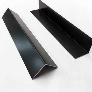Versandmetall Aluminiumwinkel anthrazit gleichschenkelig 90° gekantet bis Länge 1500 mm