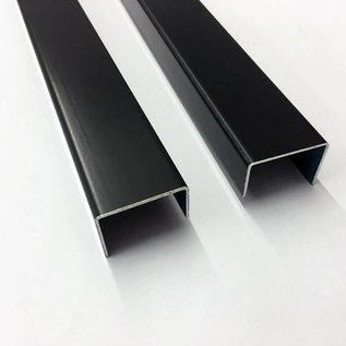 Versandmetall U-Profil aus Aluminium anthrazit (RAL 7016) gekantet bis Breite c= 30 mm und Länge 1.000 mm