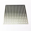 Lüftungsgitter aus Edelstahl Quadratloch 10x10 mm