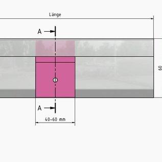 Versandmetall Halter für Sockelleiste SLF aus Edelstahl