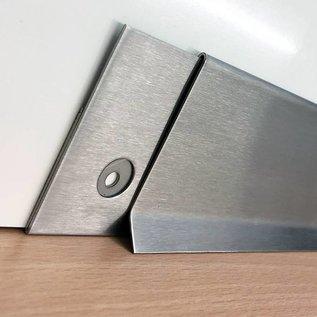 Versandmetall SLF6-2 Sockelleiste Sockelblende Fussleiste,  unten 20mm  1,0mm, 60mm hoch, Schliff Korn 320