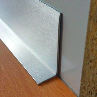 Versandmetall [20] Kantenschutzwinkel 3-fach gekantet  Materialdicke 2,0mm axb 30x 30mm  Länge 2500 mm Innen Schliff K320