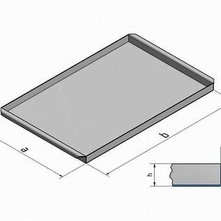 Versandmetall Roestvrijstalen kuip R2 gelast Materiaaldikte 1,5 mm lengte / diepte (a) 200 mm buitengrond K320