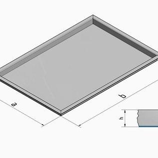 Versandmetall Edelstahlwanne R3  geschweißt Materialstärke 1,5mm  Länge/Tiefe (a)  250 mm Außen Schliff K320