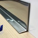 Versandmetall Innen Eckwinkel Abschlussleiste Länge 1.000mm  Innen  2R (IIID) spiegelnd, glänzend