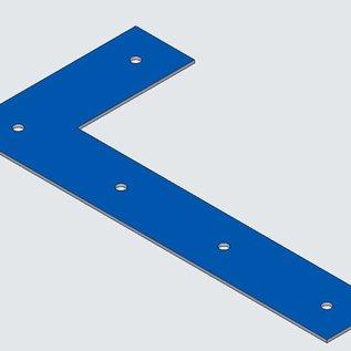 Versandmetall 130 stuks [180724] Roestvrijstalen hoek gemaakt van 2,0 mm roestvrij staal axbxc 120x250x40mm, oppervlak één. Knip K320