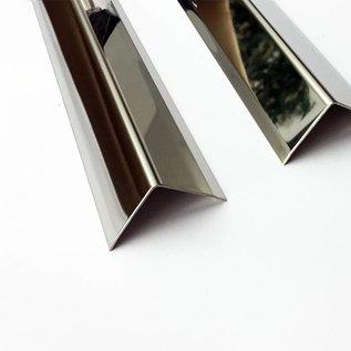 Versandmetall RVS 304 Hoekbeschermer Hoekprofiel L-Profiel roestvrij Staal gelijkzijdig gezet 90° Lengte 1000 mm