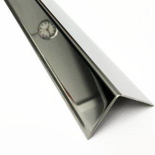 Versandmetall Corniére de protection inox  en acier inoxydable Angle de protection des bords Rail de protection d'angle à 3 plis,  équilatéral 90 ° longueur 1250 mm
