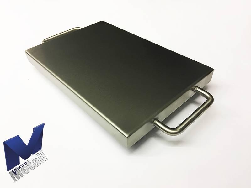 Edelstahlwanne Reihe2 geschweißt Edelstahl 1,5mm Breite 600mm Außen Schliff K320