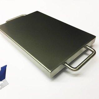 Versandmetall Kuip RVS Bak Spoelbak R1 dikte 1,5mm  Breedte 400 mm oppervlakke BUITENZIJDE geschuurd grid(320) gelast en gebeitst