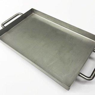 Versandmetall Edelstahlwanne R1 geschweißt Materialstärke 1,5mm  Breite 300 mm Außen Schliff K320