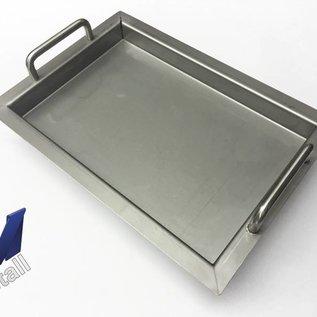 Versandmetall Edelstahlwanne R2  geschweißt Materialstärke 1,5mm  Länge/Tiefe (a)  600 mm Außen Schliff K320