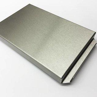 Versandmetall Edelstahlwanne R2  geschweißt Materialstärke 1,5mm  Länge/Tiefe (a)  400 mm Außen Schliff K320