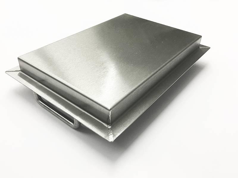 Edelstahlwanne R2-1 geschweißt Edelstahl 1,5mm Breite 450mm Außen Schliff K320.