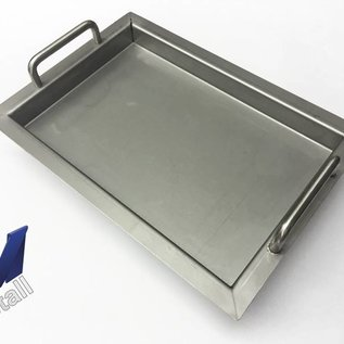 Versandmetall Edelstahlwanne R2  geschweißt Materialstärke 1,5mm  Länge/Tiefe (a)  200 mm Außen Schliff K320