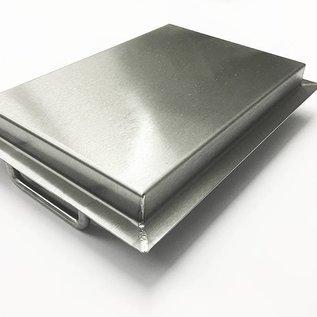 Versandmetall Baignoire en acier inoxydable R3 soudée Epaisseur du matériau 1,5mm longueur / profondeur (a) 500 mm à l'extérieur du sol K320