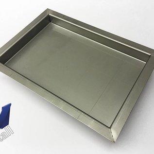 Versandmetall Roestvast stalen kuip R3 gelast Materiaaldikte 1,5 mm lengte / diepte (a) 250 mm buitengrond K320