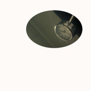 Ronde spiegelnd/glänzend  2R (3D) Edelstahlblechzuschnitte Materialstärke 1,0mm  Durchmesser 150 mm (15 cm)
