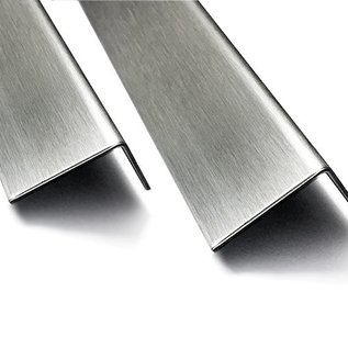 Versandmetall Edelstahlwinkel Abdeckwinkel Aussen Schliff K320 Materialdicke  2,0mm 90°  axb 110x70mm Länge 934mm