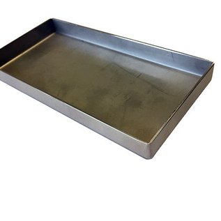 Versandmetall Roestvrijstalen kuip serie 1 hoeken dichtgelast en gekleurd, roestvrij staal 1.5mm h = 180mm axb 500x700mm EXTERNE grondkoppeling K320