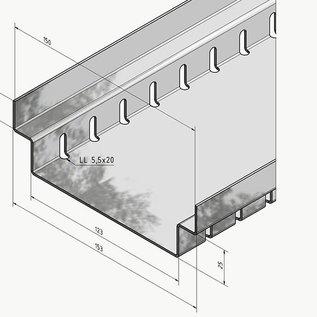 """Versandmetall Sparset Drainagegoten Afvoerkanalen vorm """"A2"""" Aluminium breedte Inlaat 150mm"""