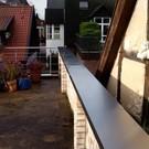 Versandmetall -Set [5 parties] Revêtement mural en 1 mm d'aluminium vierge (Al99.5) Largeur 270mm Hauteur 25mm Long. 1x 198.5cm, 204.7cm, 203.5cm, 194.1cm. 226cm et 5 connecteurs de queue et 5 mur