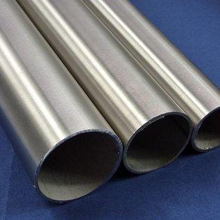 Tube en acier inoxydable rond 42,4x2mm à l'intérieur de 38,2mm L = 2.500mml 1.4301 brillant / brossé - scié à la dimension.