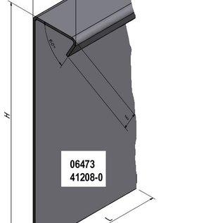 Versandmetall -Stel [28m] Stevige kiezelrail met gazonrand van 1,0 mm dik roestvrij staal (1.4301). 8x L = 2500mm 4x L = 2000mm 10 connectoren 1 hoekconnector (variabel buigbaar)
