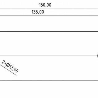Versandmetall Set [2 stks] Afschermplaat gemaakt van 2,0 mm roestvrij staal 50x150mm oppervlak1 zijdig graan 320