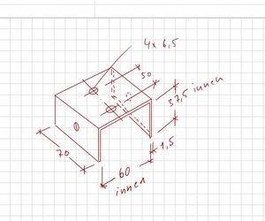B/&T Metall Aluminium U Profil 50 x 50 x 4 mm aus AlMgSi0,5 F22 schweissbar eloxierf/ähig L/änge ca 1 mtr. 1000 mm +0//- 3 mm