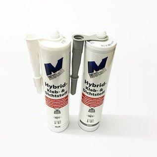 Versandmetall 4x Hightech lijm en afdichtmiddel -4x 290ml, grijs