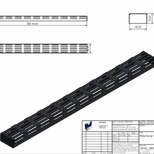 Versandmetall Jeu [120 St] Profilé en U en aluminium 1,0mm 90 ° axcxb 18x32,25x18mm (intérieur 17 * 30,25mm + 0,2 / 0,3) Longueur 332mm, Al99,5 uni, un côté avec film protecteur, surface anodisée noire