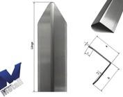 Hoekbeschermer modern 3-voudig gescherpt 1m tot 1,8m lang