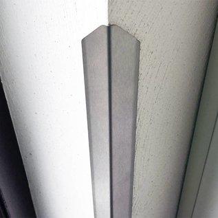 Versandmetall Sparset [ 30 Stück ] Eckschutzwinkel modern mit Spitze 3-fach gekantet, 25x25x1mm Länge 1500mm aus Edelstahl , Oberfläche einseitig mit Schliff Korn 320.