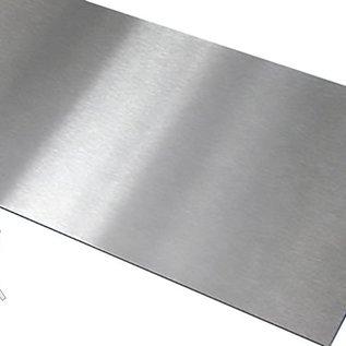 Versandmetall Plan de travail en acier inoxydable de 1,5 mm, 600 mm de profondeur, différentes largeurs, 2 épaisseurs de matériau, grain latéral visible 320, livré avec une feuille de protection