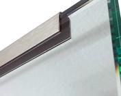 Glasprofiel eindprofiel RVS voor glazen balustrade balkon balustrade van Glas