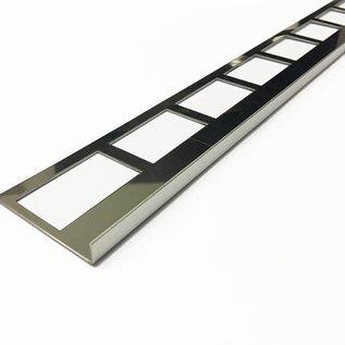 Versandmetall Bande de carrelage 1 bord de dalle Profilé de carrelage en acier inoxydable 1,0 mm, réfléchissant 2R (IIID)