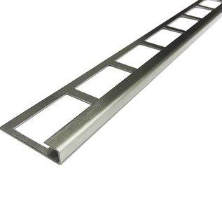 Versandmetall Bande de carrelage 2 bordures de carreaux Profilé de carrelage en acier inoxydable 1,0 mm, grain rectifié 320