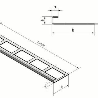 Versandmetall Fliesenleiste 2 Fliesenkante Fliesenprofil  Edelstahl 1,0mm, spiegelnd 2R (IIID)