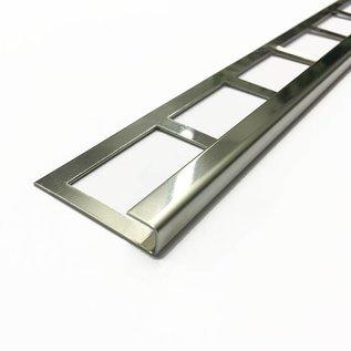 Versandmetall Bande de carrelage 2 bordure de dalle Profilé de dalle en acier inoxydable 1,0 mm, réfléchissant 2R (IIID)