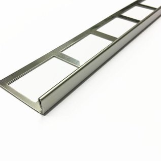 Versandmetall Bande de carrelage 3 bordure de dalle Profilé de dalle en acier inox 1,0mm, réfléchissant 2R (IIID)