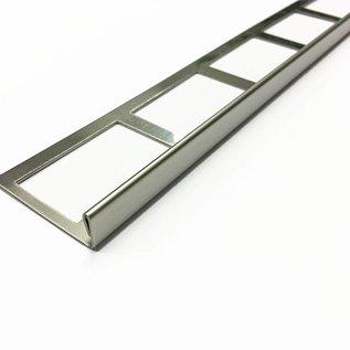 Versandmetall Tegelstrip 3 tegelrand Tegelprofiel roestvrij staal 1,0 mm, reflecterend 2R (IIID)