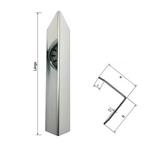 Versandmetall 1,0m Eckschutzwinkel modern 3-fach gekantet, für Mauerecken und Kanten Länge 1000 mm spiegelnd