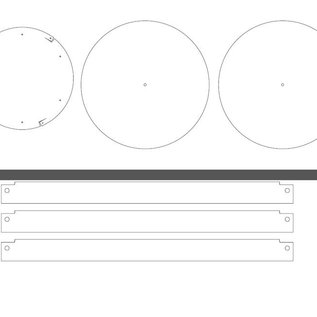 Versandmetall Stel [18 St] aluminiumlasersleuven 1,0 en 1,5 mm in volgens PDF-sjablonen, Al99,5 blank: vijl: 20190115_Aluminium plaat 1,0 mm; File: 20190115_Aluminium sheet 1.5 mm