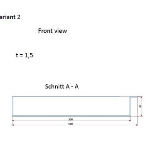 Versandmetall Roestvrijstalen kuip serie 1 hoeken dichtgelast en gekleurd, roestvrij staal 1,5 mm h = 80 mm axb 500x800mm EXTERNE grondverbinding K320 - Varianten selecteerbaar
