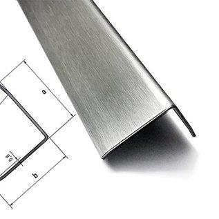 Versandmetall -  [ 1 St ]  Kantenschutzwinkel 3-fach gekantet 1,5mm aussen K320   axbxL 100x300x1200mm