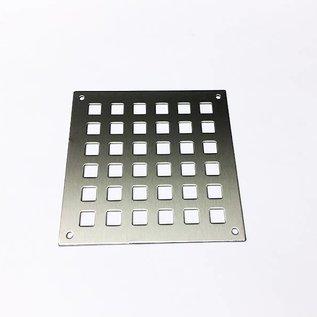 -Stel in {2-part. Parapet voor 1,5 mm roestvrij staal 1x 1773x768 mm 1x 918x744 mm, vierkante perforatie Q20 / 50 mm