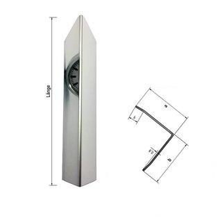 Versandmetall 1,5m Eckschutzwinkel modern 3-fach gekantet, für Mauerecken und Kanten Länge 1500 mm spiegelnd